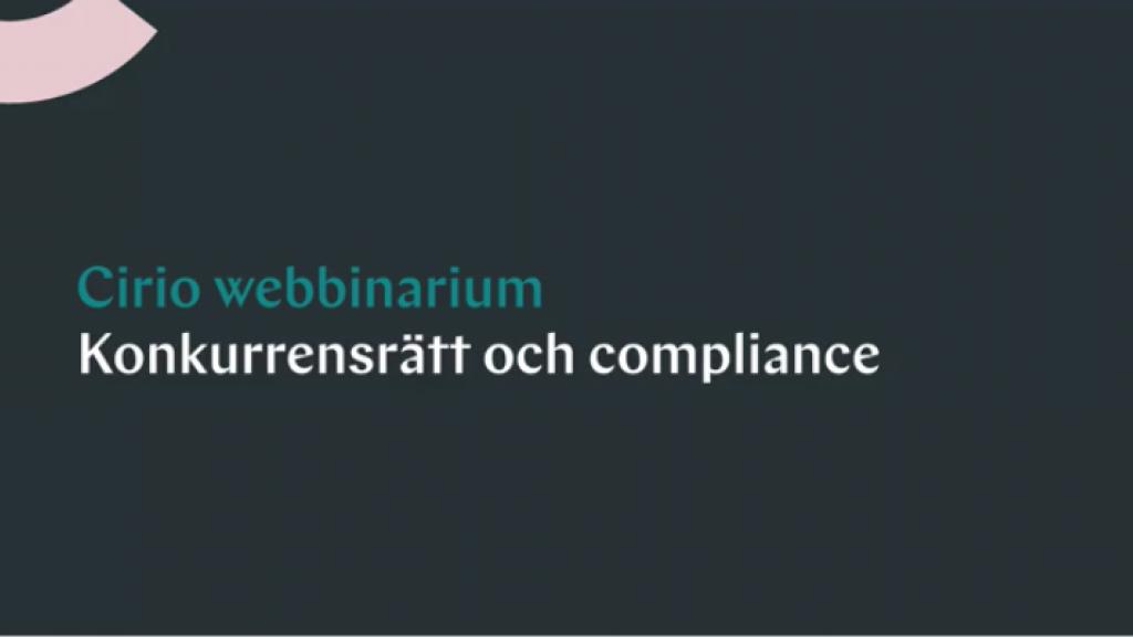 Konkurrensrätt, korruption och compliancefrågor i coronakrisen