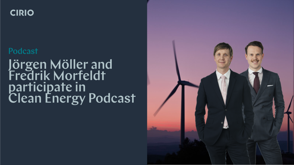 Cirio participate in Clean Energy Podcast by Simmons & Simmons